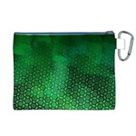 Ombre Green Abstract Forest Canvas Cosmetic Bag (XL) Back