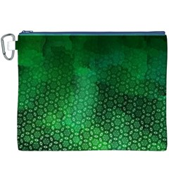 Ombre Green Abstract Forest Canvas Cosmetic Bag (xxxl)