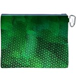 Ombre Green Abstract Forest Canvas Cosmetic Bag (XXXL) Back