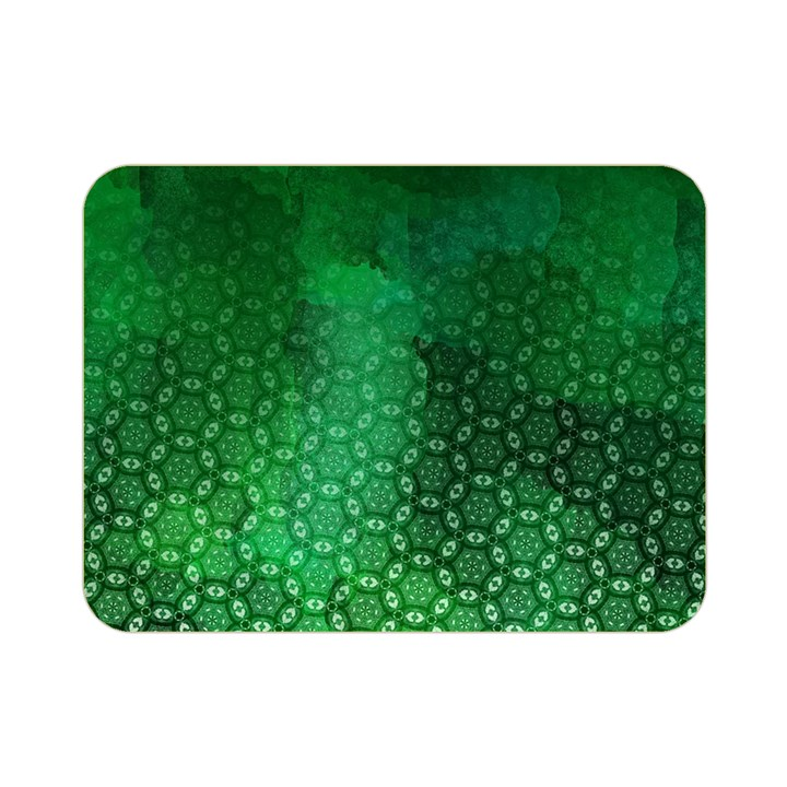 Ombre Green Abstract Forest Double Sided Flano Blanket (Mini)