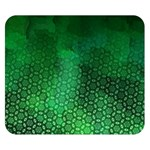 Ombre Green Abstract Forest Double Sided Flano Blanket (Small)  50 x40 Blanket Front