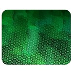 Ombre Green Abstract Forest Double Sided Flano Blanket (Medium)  60 x50 Blanket Back