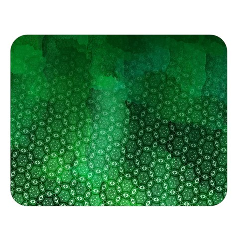 Ombre Green Abstract Forest Double Sided Flano Blanket (Large)