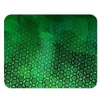 Ombre Green Abstract Forest Double Sided Flano Blanket (Large)  80 x60 Blanket Front