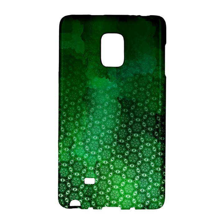 Ombre Green Abstract Forest Galaxy Note Edge