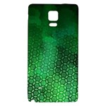 Ombre Green Abstract Forest Galaxy Note 4 Back Case Front