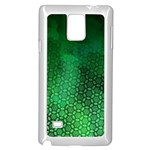 Ombre Green Abstract Forest Samsung Galaxy Note 4 Case (White) Front