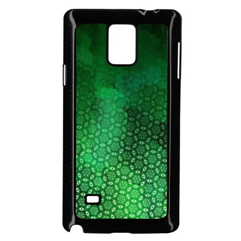 Ombre Green Abstract Forest Samsung Galaxy Note 4 Case (Black)