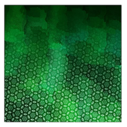 Ombre Green Abstract Forest Large Satin Scarf (Square)