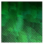 Ombre Green Abstract Forest Large Satin Scarf (Square) Front