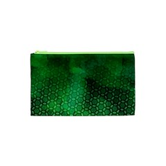 Ombre Green Abstract Forest Cosmetic Bag (XS)