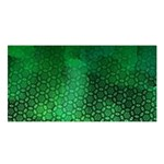 Ombre Green Abstract Forest Satin Shawl Front