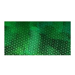 Ombre Green Abstract Forest Satin Wrap