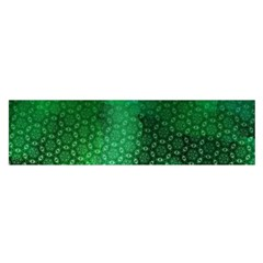 Ombre Green Abstract Forest Satin Scarf (Oblong)