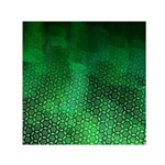 Ombre Green Abstract Forest Small Satin Scarf (Square)  Front