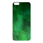 Ombre Green Abstract Forest Apple Seamless iPhone 6 Plus/6S Plus Case (Transparent) Front