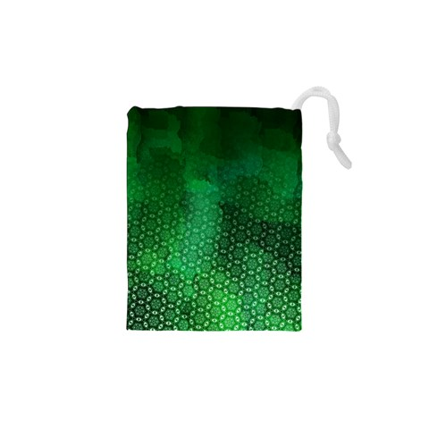 Ombre Green Abstract Forest Drawstring Pouches (XS)