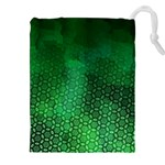 Ombre Green Abstract Forest Drawstring Pouches (XXL) Front
