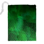 Ombre Green Abstract Forest Drawstring Pouches (XXL) Back