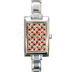 Modernist Geometric Tiles Rectangle Italian Charm Watch