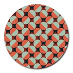 Modernist Geometric Tiles Round Mousepads Front