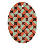 Modernist Geometric Tiles Ornament (Oval)  Front