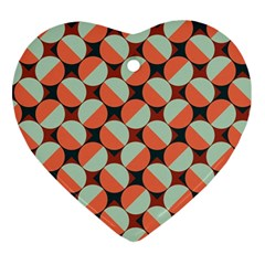 Modernist Geometric Tiles Ornament (Heart)