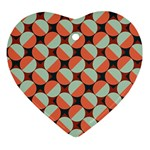 Modernist Geometric Tiles Ornament (Heart)  Front