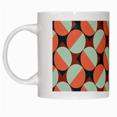 Modernist Geometric Tiles White Mugs