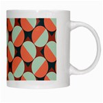Modernist Geometric Tiles White Mugs Right