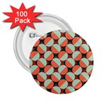 Modernist Geometric Tiles 2.25  Buttons (100 pack)  Front