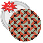 Modernist Geometric Tiles 3  Buttons (100 pack)  Front