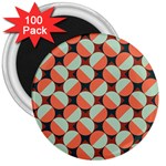 Modernist Geometric Tiles 3  Magnets (100 pack) Front