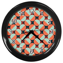 Modernist Geometric Tiles Wall Clocks (black)