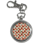 Modernist Geometric Tiles Key Chain Watches Front