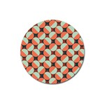 Modernist Geometric Tiles Magnet 3  (Round) Front