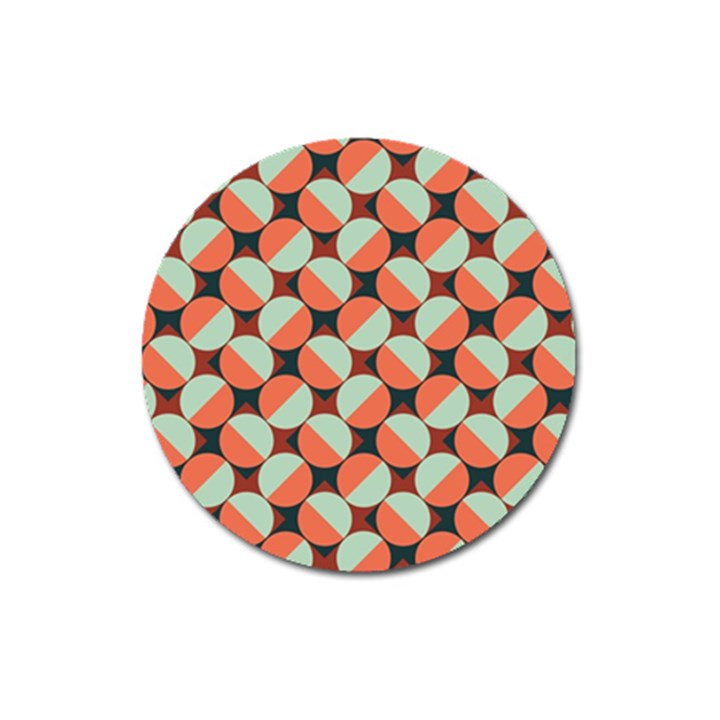 Modernist Geometric Tiles Magnet 3  (Round)