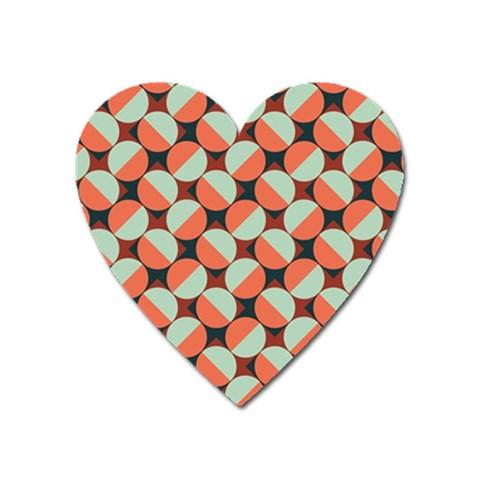 Modernist Geometric Tiles Heart Magnet