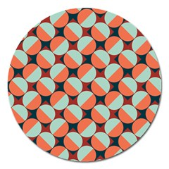 Modernist Geometric Tiles Magnet 5  (Round)