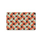 Modernist Geometric Tiles Magnet (Name Card) Front
