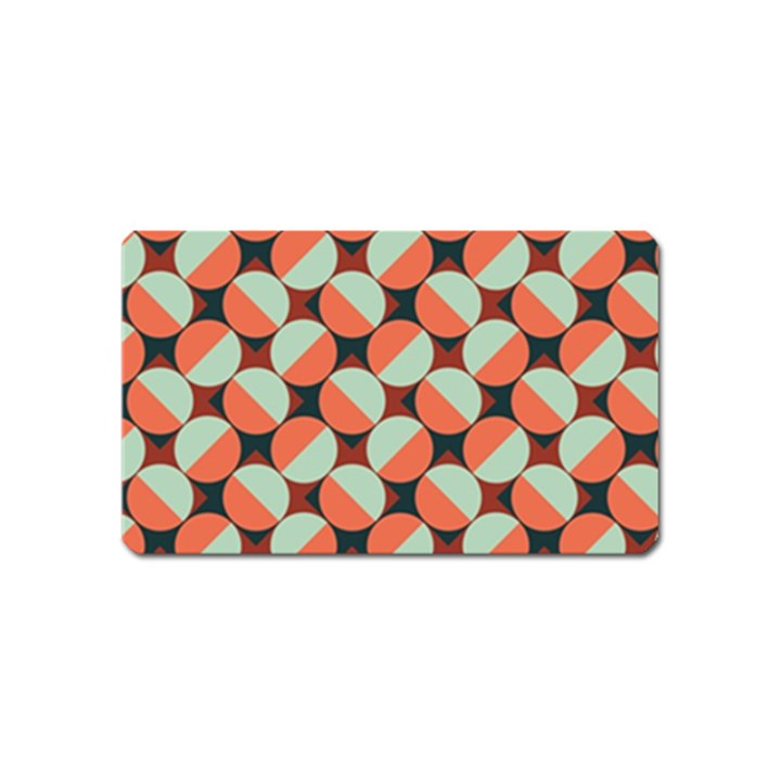 Modernist Geometric Tiles Magnet (Name Card)