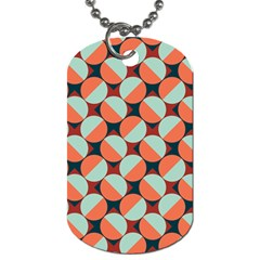 Modernist Geometric Tiles Dog Tag (One Side)