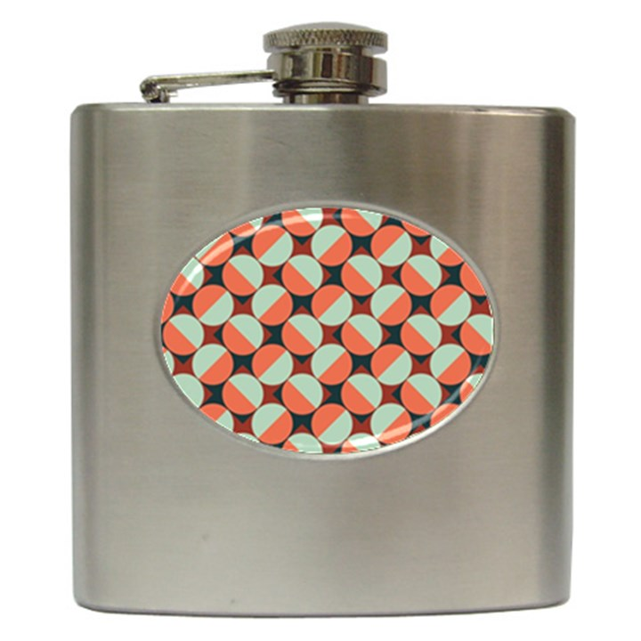 Modernist Geometric Tiles Hip Flask (6 oz)