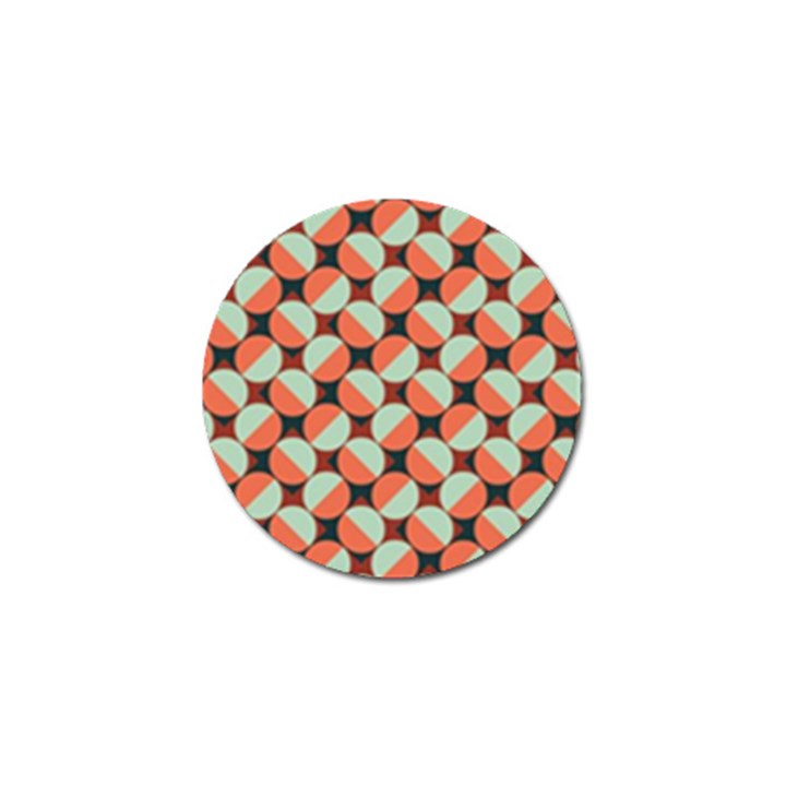 Modernist Geometric Tiles Golf Ball Marker (4 pack)