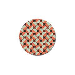 Modernist Geometric Tiles Golf Ball Marker (10 Pack)