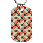 Modernist Geometric Tiles Dog Tag (Two Sides) Front
