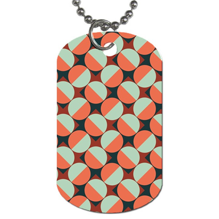 Modernist Geometric Tiles Dog Tag (Two Sides)