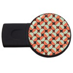 Modernist Geometric Tiles USB Flash Drive Round (1 GB)  Front