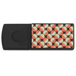 Modernist Geometric Tiles USB Flash Drive Rectangular (2 GB)  Front