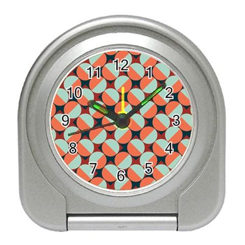 Modernist Geometric Tiles Travel Alarm Clocks